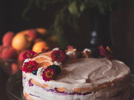 tort cu lămâie și afine