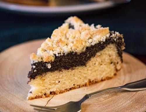 Prăjitură cu mac și crumble