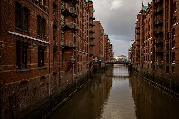 Hamburg - Clădiri din districtul Speicherstadt