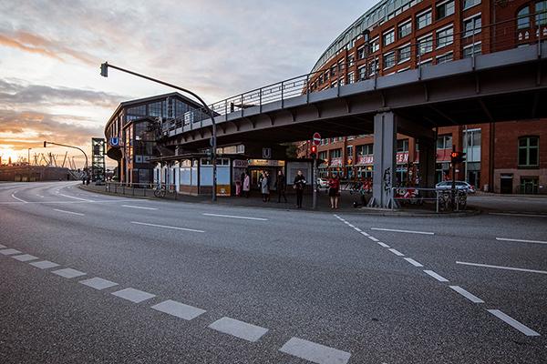 Hamburg - Fotografie făcută pe stradă în apropierea portului