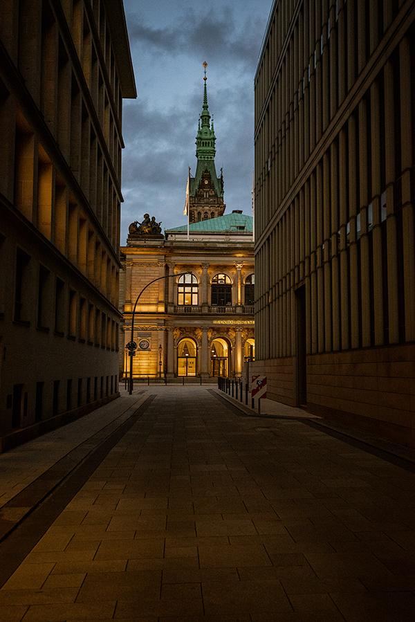 Hamburg - Clădire din centrul orașului