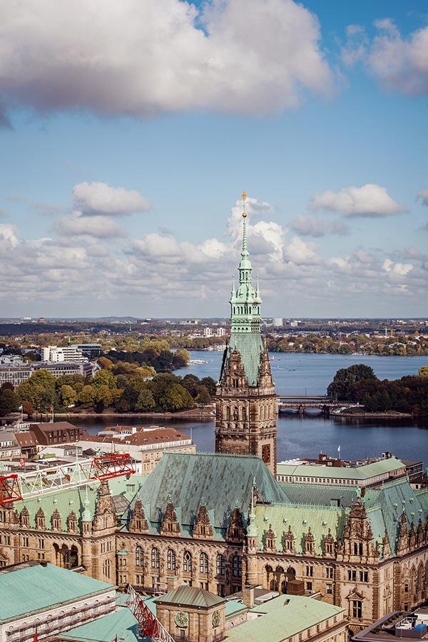Hamburg - Vedere din Memorialul Sf. Nikolai