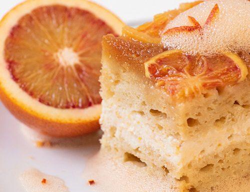 Prăjitură întoarsă cu portocale